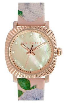 bd5e4e113 Ted Baker London  Mini Jewels  Patent Leather Strap Watch