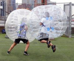 Bubble Soccer Battle Balls | DudeIWantThat.com If only they didn't cost so damn much!
