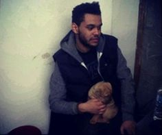 The weeknd AND a puppy?!?! That's just too much for my heart to handle!!