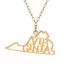 Virginia state pride charm necklace