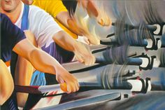 Men's Quad - Limited edition rowing print, $75