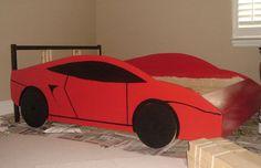 homemade race car bed