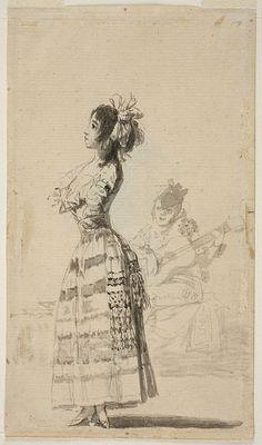 Francisco de Goya - Joven bailando al son de una guitarra (Álbum de Sanlúcar)