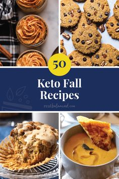 50 of the best keto fall recipes is for you! More than just pumpkin spice, here's 50 keto dishes to suit different preferences and occassions. CHECK OUT THE FULL LIST HERE. Low Carb Desserts, Low Carb Recipes, Diet Recipes, Lunch Recipes, Pumpkin Recipes, Fall Recipes, Thanksgiving Recipes, Low Carb Breakfast, Breakfast Ideas