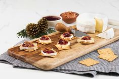 Bacon, Brie and Cranberry Holiday Melts Recipe from Food Network Woodworking Projects That Sell, Popular Woodworking, Custom Woodworking, Fine Woodworking, Woodworking Beginner, Woodworking Magazine, Woodworking Furniture, Woodworking Ideas, Mini Beef Wellington