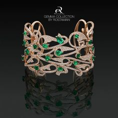 Jewelery is something that has to do with emotion. Emerald Bracelet from Gemma collection by Rostamian Gallery. #AlirezaRostamian #Bracelet #Gold #Gemmacollection #emerald