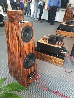 A full flagship Kondo vacuum tube setup driving Kaiser Acoustics Kawero Classic speakers with their external Duelund crossovers and Kondo internal cabling...