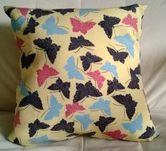 Items similar to Swallowtail Butterfly Cushion - Handmade Vintage Kimono Silk Pillow on Etsy Handmade Cushions, Decorative Cushions, Butterfly Cushion, Butterfly Decorations, Silk Pillow, Vintage Kimono, Pillow Sale, Cushion Covers, Lily