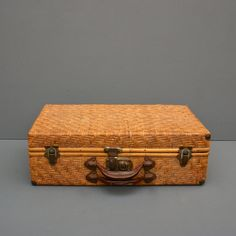 Antique Wicker Suitcase Rattan Luggage by FanshaweBlaine on Etsy ...