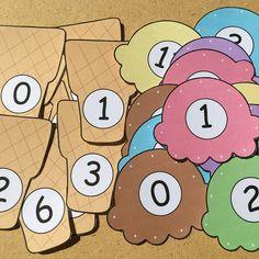 ice cream number match for preschool and kindergarten