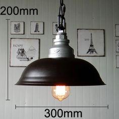 【KC燈具】鐵藝工業吊燈黑色燈罩辦公室倉庫咖啡廳燈罩鍋蓋吊燈-淘寶網