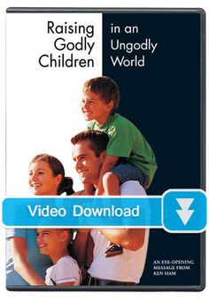 99 cents download!  Well worth watching or reading Raising Godly Children in an Ungodly World - Video Download - Answers Bookstore Raising Godly Children, 99 Cents, Christian Parenting, Father, Study, Messages, Bible Studies, World, Reading