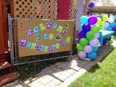 Monster& Inc Birthday Party Ideas Monster Inc Party, Monster Birthday Parties, First Birthday Parties, 3rd Birthday, Girls Birthday Party Themes, Birthday Ideas, Monster University Party, Twins 1st Birthdays, Monsters Inc