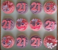 21st Birthday cupcakes by The Cupcake Studio, via Flickr
