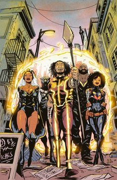 """superheroesincolor: """" Black Panther and the Crew & Marvel Comics """"I'll be debuting today my piece of the super team known as THE CREW at Prints will be limited just like the comic! Comic Book Characters, Comic Books Art, Comic Art, Black Characters, Black Panther Storm, Black Panther Marvel, Book Cover Art, Comic Book Covers, Gi Joe"""