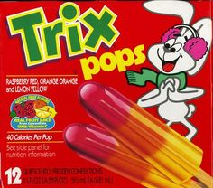 Trix Pops-- My childhood 90s Childhood, Childhood Memories, 1990s Food, 1990s Tv Shows, Discontinued Food, Fashion 90s, Oldies But Goodies, Ol Days, 90s Kids