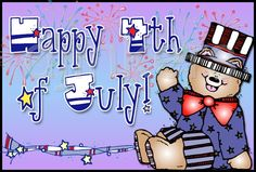 Happy 4th of July, star font, American clip art, stars & stripes, July clip art, Independence Day