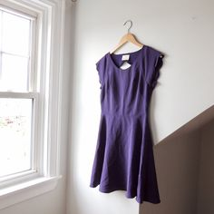 855c032984c @lisaloveslions on Depop Purple A-line dress with scallop cut out by Pins +