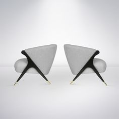 Pair of Modernist Karpen Lounge Chairs, 1950s image 6