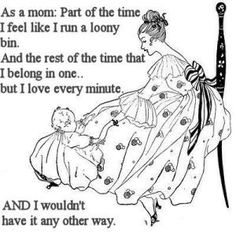A new mother and baby in a vintage scene with a quote. What do you imagine that your first Christmas with a new baby will be like? As for myself, I remember that I couldn't wait to book an appointment for the