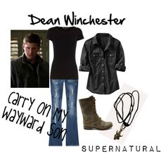 """""""Dean Winchester Cosplay #1"""" by theladyinblack on Polyvore"""