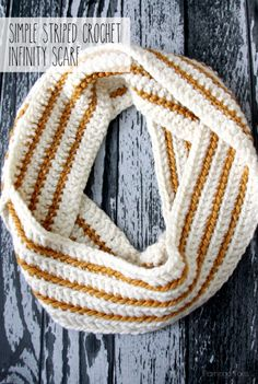 Simple Striped Crochet Scarf