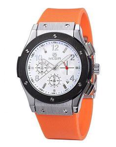 MEGIR Women Business Watch Chronograph Casual Quartz Analog Silicone Strap Wristwatch Waterproof Clock relogio masculino 3002