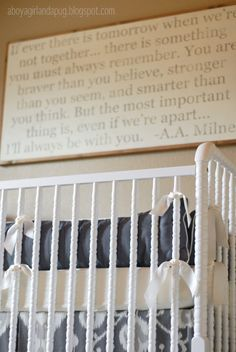 Project Nursery - Vintage Gray Nursery Crib View