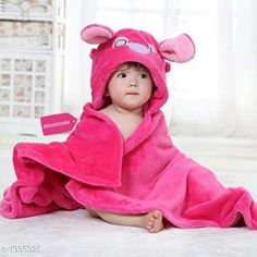 Checkout this latest Bathrobes Product Name: *Super Soft Flannel KId's Bathrobe * Fabric: Flannel  Size: Age Group (0 Months - 6 Months)  Type : Stitched Description: It Has 1 Piece Of Kid's Hooded  Bathrobe Work: Printed Country of Origin: India Easy Returns Available In Case Of Any Issue   Catalog Rating: ★4.2 (298)  Catalog Name: Fashionate Super Soft Flannel KIds Bathrobe Vol 1 CatalogID_255443 C63-SC1324 Code: 172-1935321-966