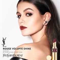 Ysl Beauty, Kaia Gerber, Yves Saint Laurent, Campaign, Make Up, Earrings, Color, Ads, Models