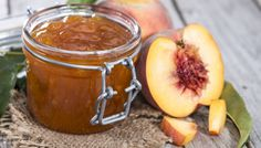 This jam is a delicious way to show off summer stone fruit, and it lets you enjoy the flavors of summer later in the year, too. When cooking jams that use fresh herbs like lemon verbena or thyme, w… Chutney, Peach Freezer Jam, Cooking Jam, Splenda Recipes, Southern Cooking Recipes, Homemade Jelly, Peach Jam, Fruit Jam, Stone Fruit