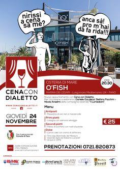 locandina ofish cena con dialetto