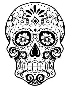 Adult Coloring Pages: Skulls 2-2