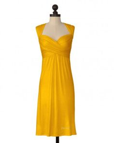 The Appalachian State University Criss Crossed Dress in Gold. Also in Black.