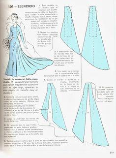 "Моделирование из ""Metodo Practico de Сorte y confeccion"" <<<<no idea, but i bet i could us this as an Elsa cosplay!!!"