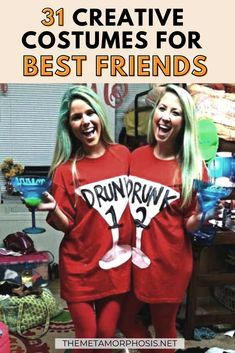 These best friend halloween costumes are perfect for you and your bestie in 2020! All students need to see these college halloween costume ideas best friends!! #Halloween #Bestfriends #costumeideas Creative College Halloween Costumes, Funny Halloween Costumes Women, Best Friend Halloween Costumes, Costumes For Women, Freshman Outfits, Freshman Tips, College Tips, College Parties, College Survival