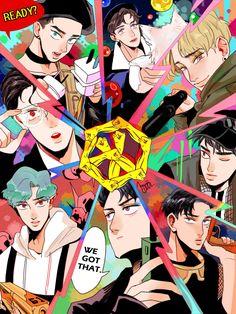 """Miss kpop aesthetic (EXO fan art… """"powersource. Chibi, Character Design, Exo Art, Exo Fan Art, Fan Art Drawing, Anime, Cartoon, Exo Anime, Fan Art"""