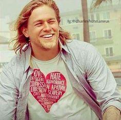 I want Charlie Hunnam's t-shirt. Oh, and Charlie Hunnam, too! Hahaha!