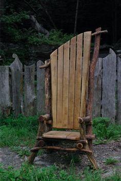 Cedar and oak Adirondack chair. By Hoppy Quick