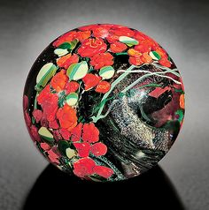 Red+Roses+Paperweight by Shawn+Messenger: Art+Glass+Paperweight available at www.artfulhome.com