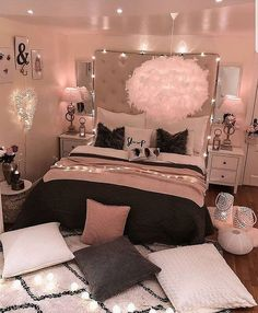 bedroom decorating ideas for teen girls decoration - dream bedroom decor tips to produce a super comfortable teen girl bedrooms. Bedroom Decor Suggestion tip posted on 20190219 Cute Bedroom Ideas, Girl Bedroom Designs, Room Ideas Bedroom, Bedroom Ideas For Small Rooms Women, Teen Room Designs, Budget Bedroom, Design Bedroom, Bedroom Ideas Creative, Bedroom Ideas Rose Gold