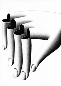 A hand with heart shaped broken fingers Graphic Design Tips, Design Art, How To Draw Fingers, Hard Nails, Collage Illustration, Generative Art, Unique Flowers, Weird Art, Simple Art
