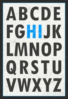 Hi Alphabet Blue Art Print Poster Prints at AllPosters.com