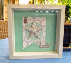 Marelle Taylor Stampin' Up! Demonstrator Sydney Australia: Christmas Star Framed Art