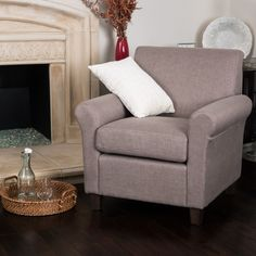 Brunswick Fabric Club Chair by Christopher Knight Home
