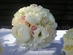 Ruffly pinks and whites Bridesmaid Bouquet, by Lily King Weddings