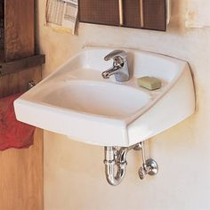 American Standard 0355.012.020 Lucerne Wall-Mount Sink with 4 Centers, White. Maybe 2 instead of a double sink vanity? $78