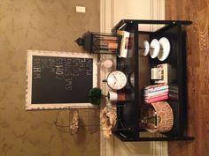 Pinterest inspired shelf decor!
