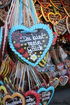 Octoberfest famous heart gingerbread cookies