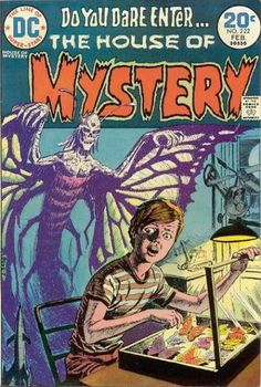 House of Mystery 222 February 1974 Issue DC Comics by ViewObscura Archie Comics, Sci Fi Comics, Horror Comics, Horror Fiction, Pulp Fiction, Comic Book Covers, Comic Books, Scary Comics, Black And White Comics